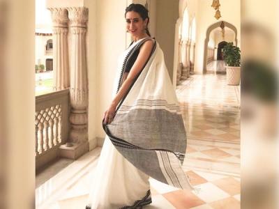 Lolo Stuns In A Linen Sari