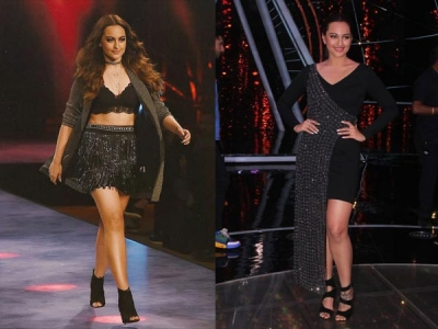 Sonakshi Wows In Blingy Dresses
