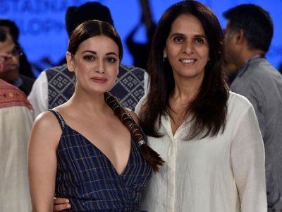 Dia Mirza's Breezy Dress At LFW 2018