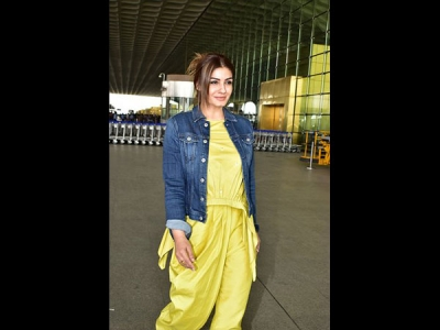 Raveena's Quirky Airport Look