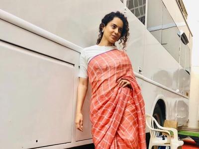 Kangana Ranaut's Laidback Sari