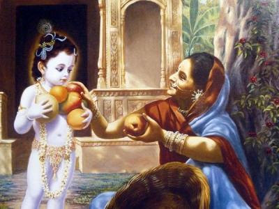 Lord Krishna And The Fruit Seller