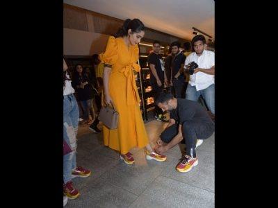 Sonam Wows In A Mustard Dress