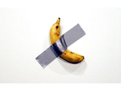 Man Eats 'Banana Art'