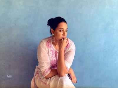 Swara Bhasker's Pink Chikankari Kurta