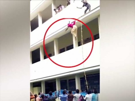Video: Girl Was Pushed To Death  During A Disaster Drill