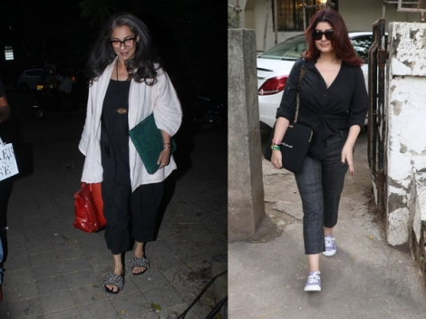 Dimple Kapadia & Twinkle Khanna Gave Us Fresh All-black Formal Wear Goals