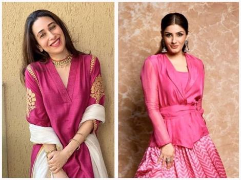Eid-ul-Fitr 2020: Karisma Kapoor, Raveena Tandon And Other Divas' Perfect Festive Pink Outfits