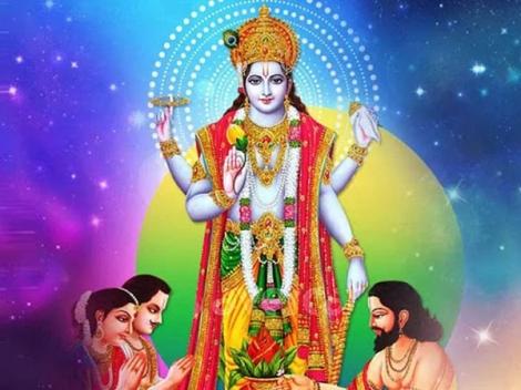 Lord Satyanarayana's Aarti Lyrics In English And Hindi