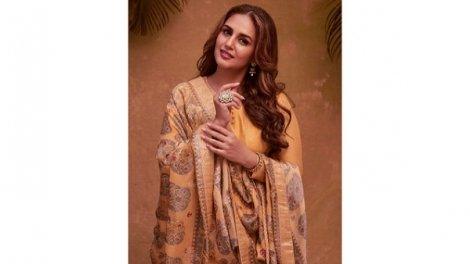 Huma Qureshi Flaunts Chanderi Anarkali Set As She Wishes Her Followers Eid Mubarak