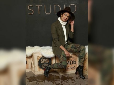 PeeCee Played A Cool Style Game With Camouflages And A Cowboy Hat At The Sundance Film Fest
