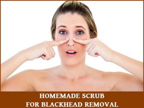 Homemade Natural Scrub For Blackhead Removal