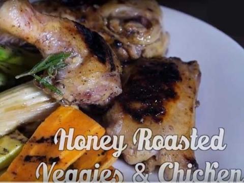 Honey Roasted Vegetable Chicken [Video]