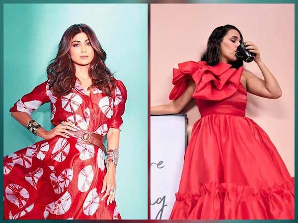 Shilpa Shetty Or Neha Dhupia, Whose Pretty Red Dress Would You Like To Steal For Upcoming Party?