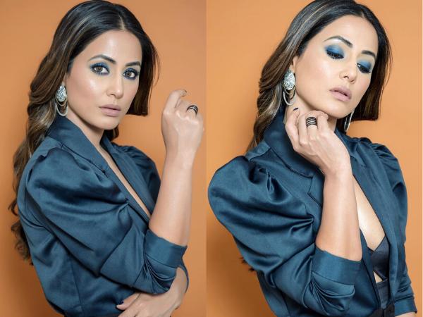 Hina Khan's Mesmerising Blue Eye Make-up Is All You Need To Slay This Holiday Season
