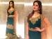 @ShaadiFashion: Zareen Khan In Reeti Arneja's Green And Pink Lehenga
