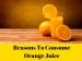 Reasons To Consume Orange Juice